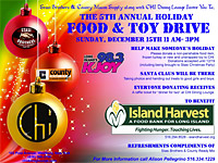 Stasi Brothers is proud to announce the 5th Annual Island Harvest Toy & Food Drive at Chi Dining Lounge
